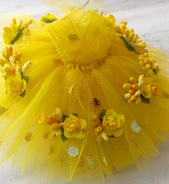 Yellow Laddu Gopal Fancy Dress